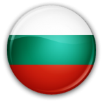 The flag of Bulgaria in round form