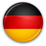 The flag of Germany in round form