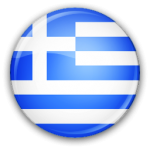 The flag of Greece in round form