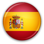 The flag of Spain in round form